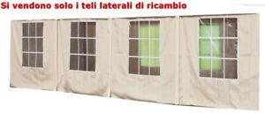 set 4 pz teli laterali ecrù per gazebo big royal YF5005S 4X10 mt telone giardino
