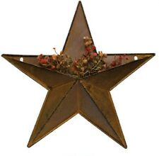 "Tin 12"" Pocket Barn Star Rusty Metal Farmhouse Country Primitive Country Rustic"