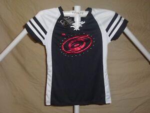 CAROLINA HURRICANES Fan Fashion JERSEY/Shirt MAJESTIC Womens Small  NWT $50