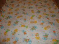 "Handmade Vintage 40""x 42"" Teddy Bear Baby Receiving Blanket Crib Nursery     300"
