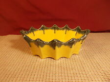 "Vintage McCoy Pottery Yellow & Green Flower Planter 9"" L x 5 1/2"" W Excellent"