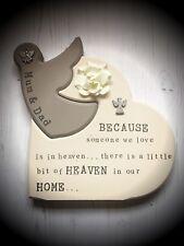 Freestanding Personalised Bespoke Wooden Angel Heart Gift Memorial Remembrance