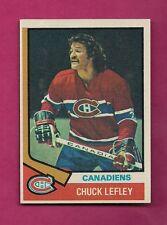 1974-75 TOPPS # 178 CANADIENS CHUCK LEFLEY NRMT-MT ERROR CARD (INV# 8122)
