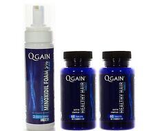 2 X QGAIN Healthy Hair + 1 X Qgain Foam Minoxidil 5% 3 Month Supply 180ml - 6oz