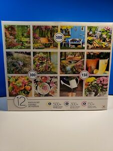 Multi 12-PACK Cardinal Jigsaw Puzzles -150, 300 & 500 Pieces Gardens & Flowers