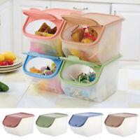 DV_ Clear Kitchen Storage Box Grain Cereal Dispenser Food Organizer Container My