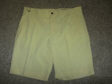 NEW Greg Norman Golf Lounge Dress Shorts 38 Classic Pro Fit Yellow Lounge Poly