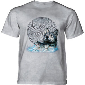 Mountain Adult T-shirt Celtic Wolf Refresh