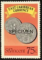 St. Vincent #1081b MNH Specimen CV$1.10 East Caribbean Currency Coins Perf 13...