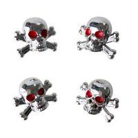 "4pcs Universal Car Truck Bike ""Skull"" Tire air Valve Stem Caps Wheel Rims G9A7"