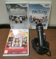 Nintendo Wii Games & Disney Microphone Bundle: We Sing, Robbie Williams, Kylie