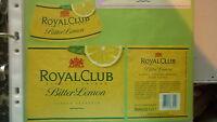OLD HOLLAND SOFT DRINK CORDIAL LABEL, VRUMONA BREWERY, BUNNIK, ROYAL CLUB LEMON