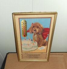 Rare 1958 National Bakery Vintage Thermometer w/ Dog Birthday Cake