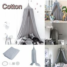 Princess Bed Canopy Insect Mosquito Landing Net Play Tent Kids Childrens Girl #3 Grey