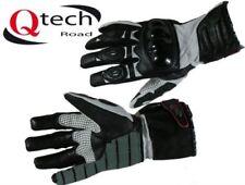 Gants en armure rigide en cuir et textile pour motocyclette