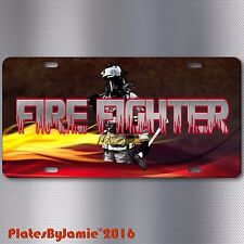 Firefighter  Fire and Rescue EMT EMS HD Image on Aluminum License Plate Tag New