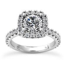 2 3/4 CT ROUND DIAMOND ENGAGEMENT RING ENHANCED VS D 14k WHITE GOLD