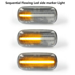 Dynamic Clear Blinker LED Side Marker Signal Light For Audi A3 S3 8P 07-11 TT 8J