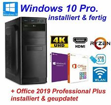 Büro PC komplett System Ryzen 5 6x 3,90GHz 32GB RAM 500GB SSD 3TB HDD Windows 10
