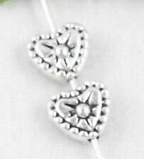 Wholesale 40/90Pcs Tibetan Silver Heart Spacer Beads 7x8.5mm(Lead-free)