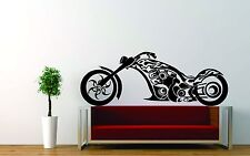 Wall Sticker Decal Vinyl Decor Motorcycle Racer Speed Fire