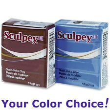 SCULPEY III oven-bake polymer modeling clay 2 oz (57g) YOUR COLOR CHOICE