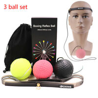Boxing REACT Training Fight Ball Reflex Boxer Speed Punch Head Cap String Ba QA