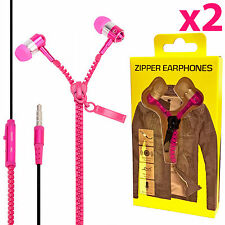 2x Stereo 3.5mm Jack Earbuds Earphones for iPhone 6S 5S w/ Mic Headphone Headset