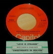 Buck Owens & Susan Raye 45 Love Is Strange / Sweethearts In Heaven  w/ts