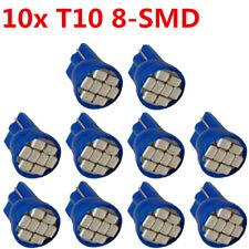 10X Blue Wedge Side T10 W5W 192 194 168 8-SMD LED Bulb Instrument Cluster Light
