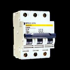 Merlin Gerin Multi 9 Circuit Breaker 32 Amp 3 Pole Switch C60H 3P C 32 A 25003