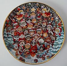 Santa Claws Franklin Mint Plate Bill Bell Limited ED Cat Kitten Kitty C-7748