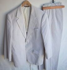 BROOKS BROTHERS - Men's Seersucker Suit SUMMER Jacket /Pants 37x30 Beige/Cream