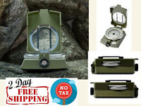 Military Lensatic and Prismatic Sighting Survival Emergency Compass with Pouch