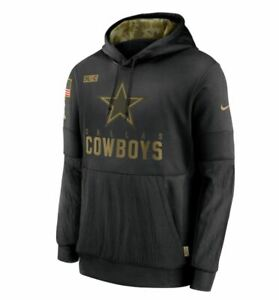 Dallas Cowboys Nike NFL Salute To Service 2020 Dri-Fit Hoodie Adult STS NWT SALE