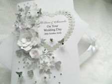 Handmade Personalised Card, Engagement, Any Anniversary, Wedding Day 3D Box
