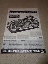 The Riders 1976 Super Calendar - Norton / Ariel / Velocette Etc Croydon Press