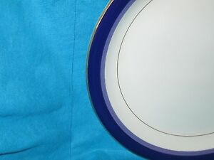 """Mikasa Transition Granada Blue 12"""" ROUND PLATTER  have more items to set"""
