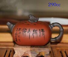 Chinese YiXing ZISha Handmade Teapot And Frog Lid By Jiang Rong