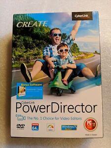 GENUINE CyberLink Power Director Windows 10 BRAND NEW FACTORY SEALED