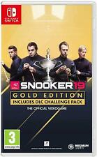 Snooker 19 Gold Edition Nintendo Switch Brand New Sealed Video Game