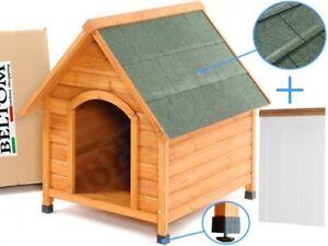 De Madera Perrera Casa del perro Refugio large / grande + PVC carpa / puerta