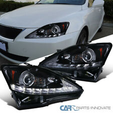 For 06-09 Lexus IS250 IS350 Sequential LED DRL Glossy Black Projector Headlights