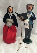 Byers' Choice Lot of 2 Carolers Conductor Victorian Woman Music Stand Songbook
