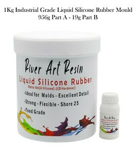 River Art Liquid Silicone Rubber Mould Making Kit – 100:2 Mix - 1Kg Jewellery