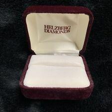 Helzberg Diamond Empty Box Velvet Ring Storage Jewelry Case Burgundy Red Hot VGC
