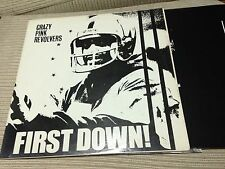 "CRAZY PINK REVOLVERS - FIRST DOWN 12"" LP UK CHAINSAW 87 INDIE ROCK POST PUNK"