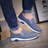 Men Low-cut Slip On Canvas Shoes Loafers Walking Flats Comfy Casual Fashion
