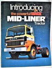 MACK TRUCKS MID LINER TRACTOR  ADVERTISING SALES BROCHURE GUIDE 1981 VINTAGE