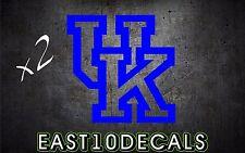 UK Kentucky Wildcats Cornhole decal vinyl sticker pair of 2 blue